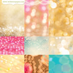 Websters Pages - Strawberry Fields Collection - 12 x 12 Vellum - Beautiful Bokeh