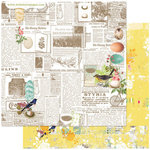 Websters Pages - Nest Collection - 12 x 12 Double Sided Paper - Newsworthy