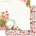 Websters Pages - Nest Collection - 12 x 12 Double Sided Paper - The Nest