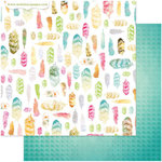 Websters Pages - Nest Collection - 12 x 12 Double Sided Paper - Tickled