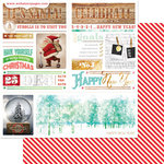 Websters Pages - All That Glitters Collection - Christmas - 12 x 12 Double Sided Paper - Newsletter