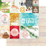 Websters Pages - All That Glitters Collection - Christmas - 12 x 12 Double Sided Paper - Holiday Cheer