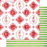 Websters Pages - All That Glitters Collection - Christmas - 12 x 12 Double Sided Paper - Snowflakes