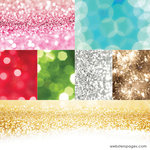 Websters Pages - All That Glitters Collection - Christmas - 12 x 12 Vellum - Glitter
