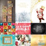 Websters Pages - All That Glitters Collection - Christmas - 12 x 12 Double Sided Paper - Storyteller Card Sheet II