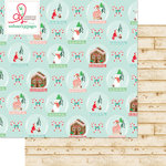 Websters Pages - Gingerbread Village Collection - Christmas - 12 x 12 Double Sided Paper - The Village