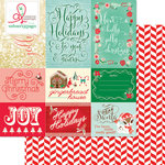 Websters Pages - Gingerbread Village Collection - Christmas - 12 x 12 Double Sided Paper - Village Wishes