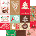 Websters Pages - Gingerbread Village Collection - Christmas - 12 x 12 Double Sided Paper - Storyteller Card Sheet II