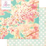 Websters Pages - Beautiful Chic Collection - 12 x 12 Double Sided Paper - Cherry Blossoms