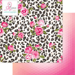Websters Pages - Beautiful Chic Collection - 12 x 12 Double Sided Paper - Animal Print