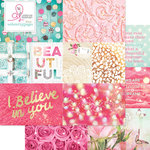 Websters Pages - Beautiful Chic Collection - 12 x 12 Double Sided Paper - Storyteller Card Sheet II
