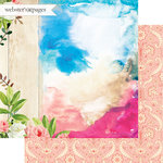 Websters Pages - Dream in Color Collection - 12 x 12 Double Sided Paper - Dreaming