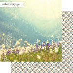 Websters Pages - Dream in Color Collection - 12 x 12 Double Sided Paper - Field of Bliss