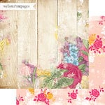 Websters Pages - Dream in Color Collection - 12 x 12 Double Sided Paper - Life's Garden