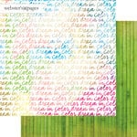 Websters Pages - Dream in Color Collection - 12 x 12 Double Sided Paper - Dream In Color