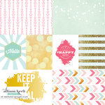 Websters Pages - Happy Collection - 12 x 12 Vellum - Keep It Real Cards