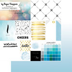 Websters Pages - These Are The Days Collection - 12 x 12 Double Sided Paper - January
