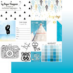 Websters Pages - These Are The Days Collection - 12 x 12 Double Sided Paper - August