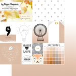 Websters Pages - These Are The Days Collection - 12 x 12 Double Sided Paper - September
