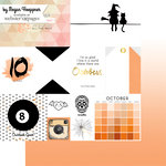 Websters Pages - These Are The Days Collection - 12 x 12 Double Sided Paper - October