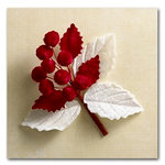 Websters Pages - Waiting for Santa Collection - Vintage Velvet Berry Bouquet