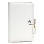 Websters Pages - Color Crush Collection - Personal Planner Binder - White