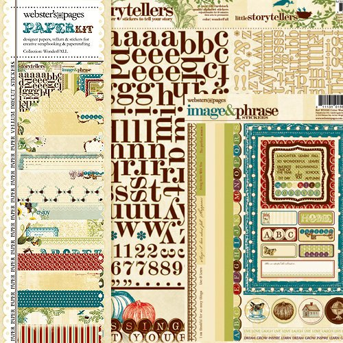 Websters Pages - WonderFall Collection - 12 x 12 Paper Sampler Kit