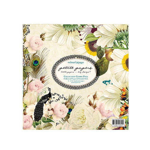 Websters Pages - Petite Papers - 6 x 6 Collection Combo Paper Pack - Hollywood Vogue and WonderFall
