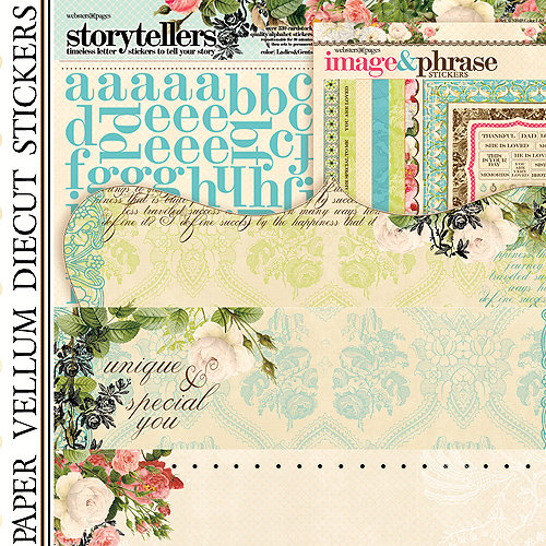 Websters Pages - Ladies and Gents Collection - 12 x 12 Paper Sampler Kit