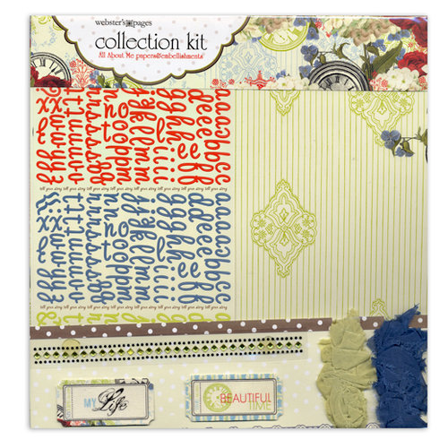 Websters Pages - All About Me Collection - 12 x 12 Paper Sampler Kit