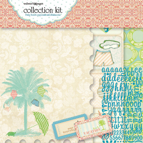 Websters Pages - The Palm Beach Collection - 12 x 12 Paper Sampler Kit