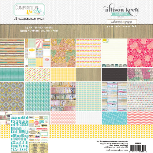 Webster's Pages - Composition and Color Collection - 12 x 12 Collection Pack