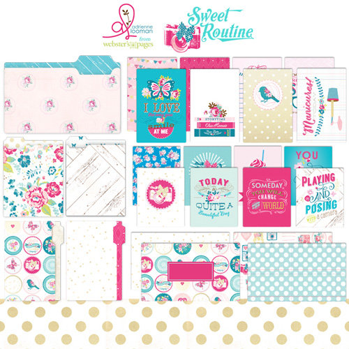 Websters Pages - Sweet Routine Collection - 12 x 12 Collection Pack