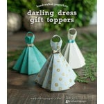 Websters Pages - All That Glitters Collection - Christmas - Handcrafted Toppers - Dresses