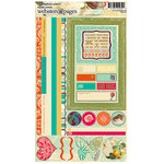 Websters Pages - Seaside Retreat Collection - Cardstock Stickers - Image and Phrase, CLEARANCE