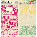 Websters Pages - Sweet Season Collection - Christmas - Storytellers - 12 x 12 Alphabet Cardstock Stickers - Sweet