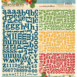 Websters Pages - Spring Market Collection - Storytellers - 12 x 12 Alphabet Cardstock Stickers