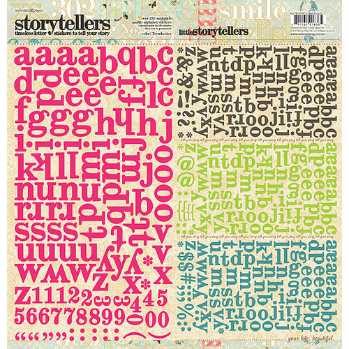 Websters Pages - Trendsetter Collection - Storytellers - 12 x 12 Alphabet Cardstock Stickers