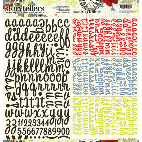 Websters Pages - All About Me Collection - Storytellers - 12 x 12 Alphabet Cardstock Stickers