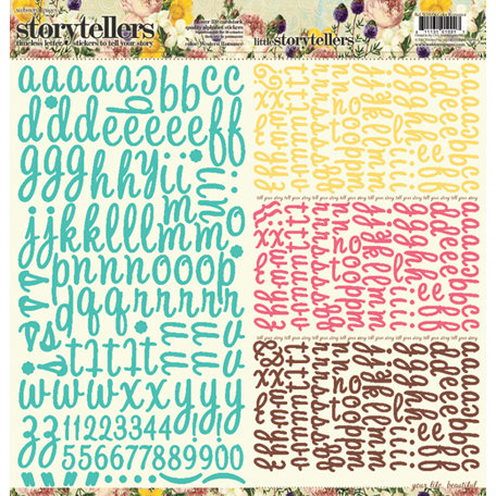 Websters Pages - Western Romance Collection - Storytellers - 12 x 12 Alphabet Cardstock Stickers