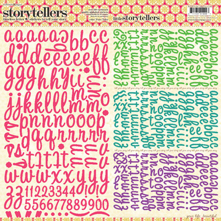 Websters Pages - Winter Fairy Tales Collection - Storytellers - 12 x 12 Alphabet Cardstock Stickers