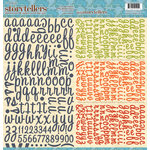 Websters Pages - Game On Collection - Storytellers - 12 x 12 Alphabet Cardstock Stickers