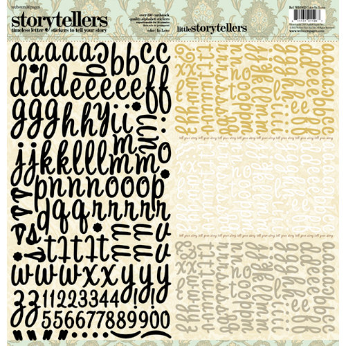 Websters Pages - In Love Collection - Storytellers - 12 x 12 Alphabet Cardstock Stickers
