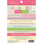 Websters Pages - Girl Land Collection - Cardstock Stickers - Mini Messages - Words