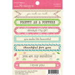 Websters Pages - Girl Land Collection - Cardstock Stickers - Mini Messages - Sentiments