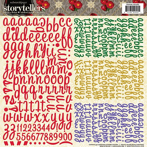 Websters Pages - Royal Christmas Collection - Storytellers - 12 x 12 Alphabet Stickers