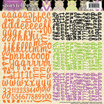 Websters Pages - Once Upon a Halloween Collection - Storytellers - 12 x 12 Alphabet Cardstock Stickers
