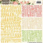 Websters Pages - Park Drive Collection - Storytellers - 12 x 12 Alphabet Cardstock Stickers