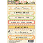Websters Pages - Park Drive Collection - Cardstock Stickers - Mini Messages - Sentiments