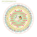 Websters Pages - Modern Romance Collection - Cardstock Stickers - Circle
